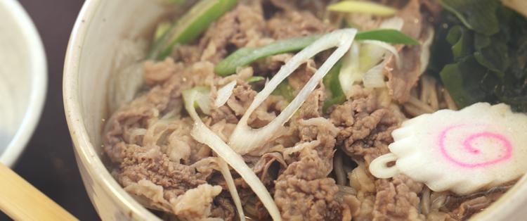 氷見牛の肉蕎麦、うどん